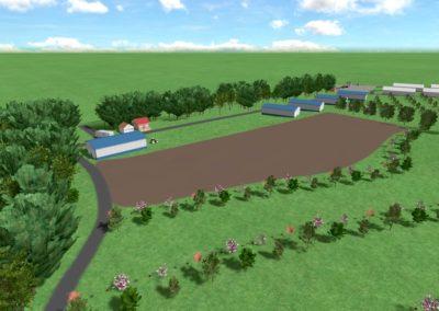 Эскиз. Огород. Складские и производственные строения.