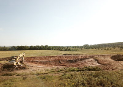 Строительство пруда. Август 2018.